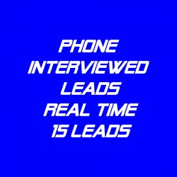 Phone Interviewed Leads-Real Time-15 Leads