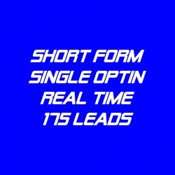 Short Form Single Optin-Real Time-175 Leads