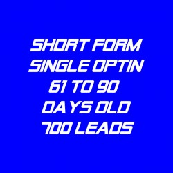 Short Form Single Optin-61-90 Days Old-700 Leads