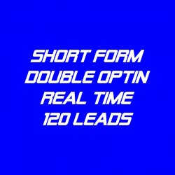 Short Form Double Optin-Real Time-120 Leads