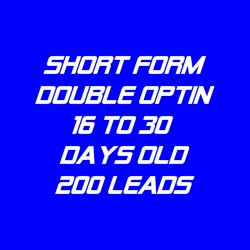 Short Form Double Optin-16-30 Days Old-200 Leads