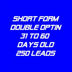 Short Form Double Optin-31-60 Days Old-250 Leads
