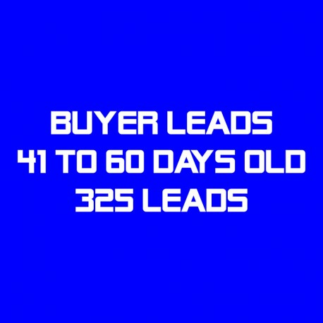 Buyer Leads-41-60 Days Old-325 Leads