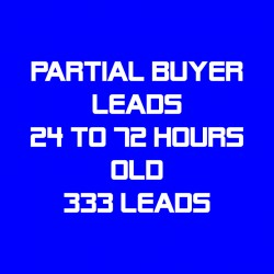 Partial Buyer Leads-24-72 Hours Old-333 Leads