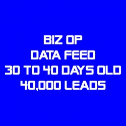Biz Op Data Feed-30-40 Days Old-40K Leads