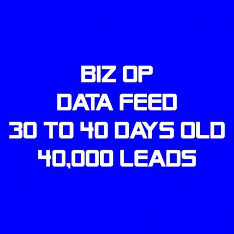 Biz Op Data Feed-30-40 Days Old-40K Leads