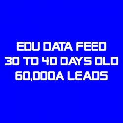 EDU Data Feed-30-40 Days Old-60K Leads