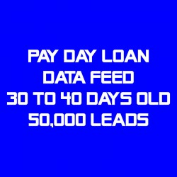 Pay Day Loan Data Feed-30-40 Days Old-50K Leads