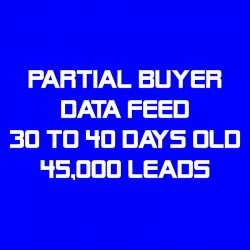 Partial Buyer Data Feed-30-40 Days Old-45K Leads