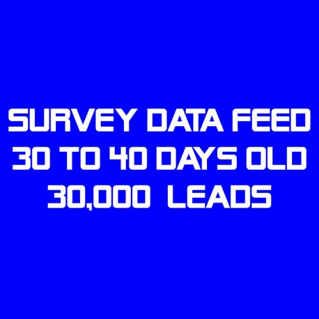 Survey Data Feed-30-40 Days Old-30K Leads