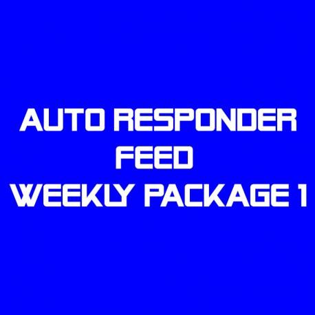 Auto Responder Feed Weekly Package 1--