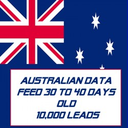 Australian Data Feed-30-40 Days Old-10K Leads