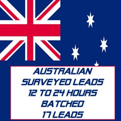 Australian Surveyed Leads-12-24 Hours Batched-17 Leads