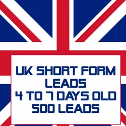UK Short form leads-4-7 Days Old-500 Leads