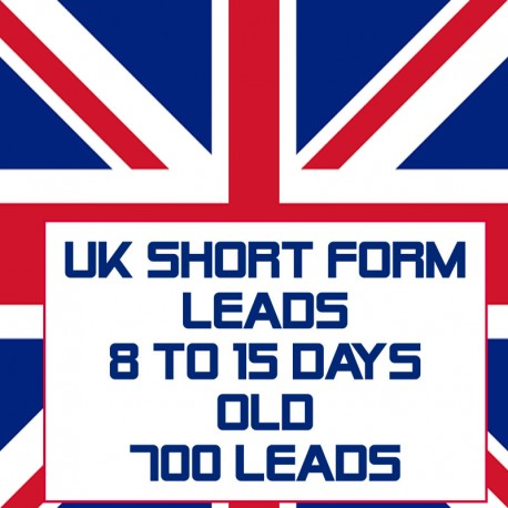 UK Short form leads-8-15 Days Old-700 Leads