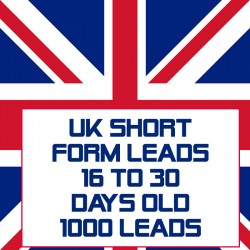 UK Short form leads-16-30 Days Old-1000 Leads
