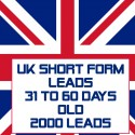 UK Short form leads-31-60 Days Old-2000 Leads