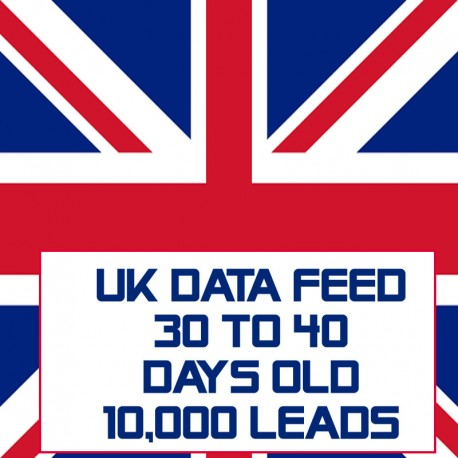 UK Data Feed-30-40 Days Old-10K Leads