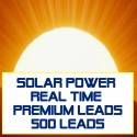 Solar Power Real Time Premium Leads