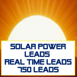 Solar Power Leads Real Time Leads
