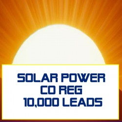 Solar Power Co-Reg Leads