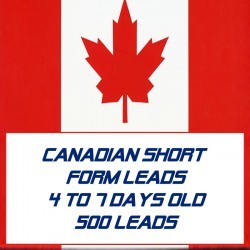 Canadian Short form leads-4-7 Days Old-500 Leads