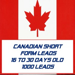 Canadian Short form leads-16-30 Days Old-1000 Leads