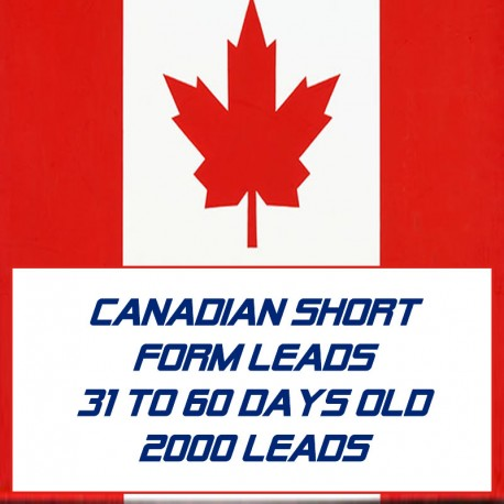 Canadian Short form leads-31-60 Days Old-2000 Leads