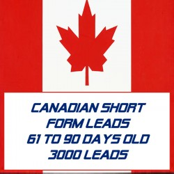 Canadian Short form leads-61-90 Days Old-3000 Leads