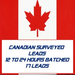 Canadian Surveyed Leads-12-24 Hours Batched-17 Leads