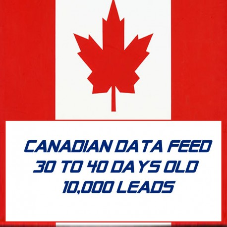 Canadian Data Feed-30-40 Days Old-10K Leads