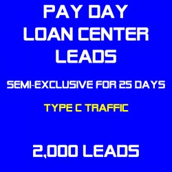 Payday Loan Center Leads Semi-Exclusive(Traffic C) - Sold Twice