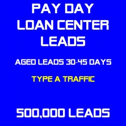 Payday Loan Center Leads Semi-Exclusive(Traffic A) - Sold Twice