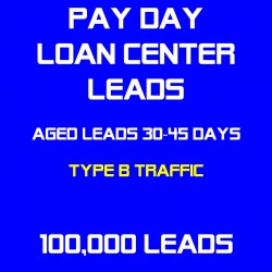 Payday Loan Center Aged Leads(Type B Traffic)
