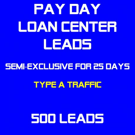 Payday Loan Center Leads Semi-Exclusive - Sold Twice